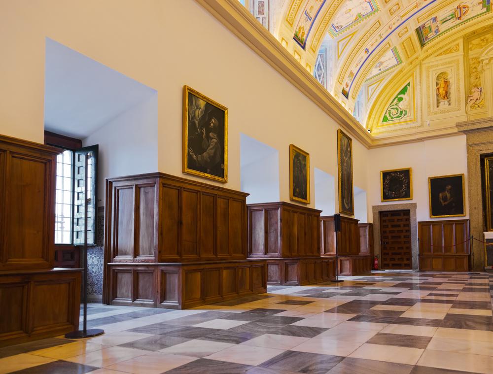 Interior del Monasterio de El Escorial,