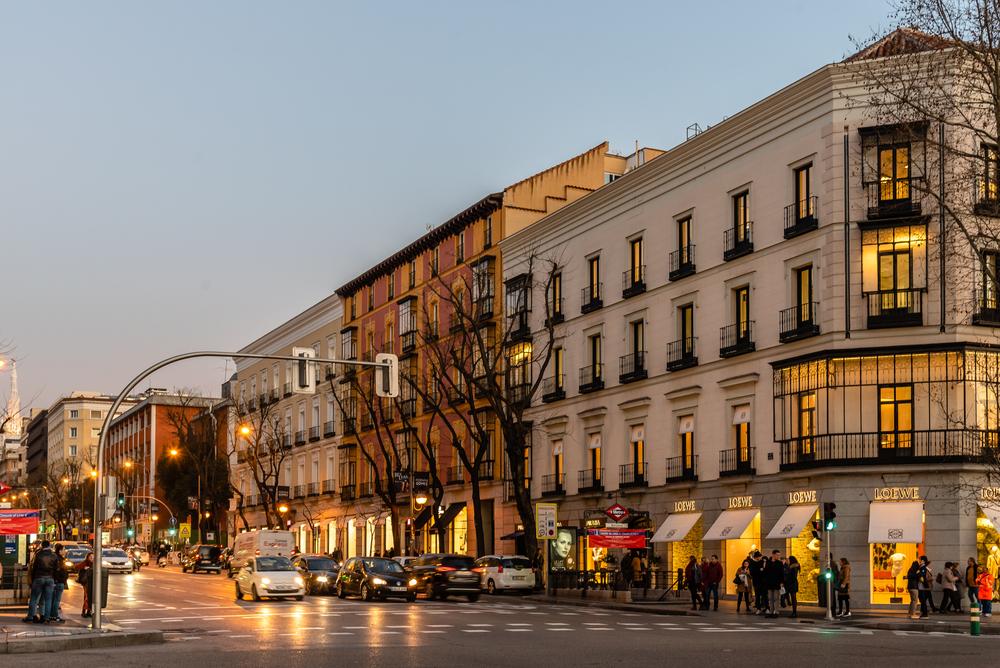 Esquina de la calle Goya con Serrano Distrito Salamanca en Madrid