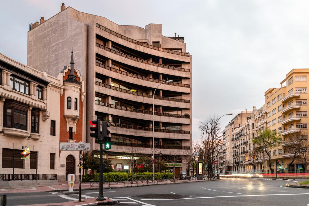 Plaza de Rubén Darío en el distrito de Chamberí