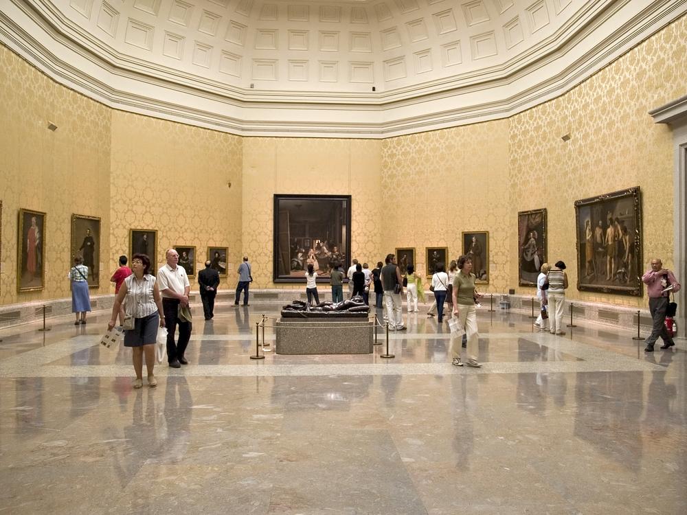 Sala de Velazquez en el museo del Prado